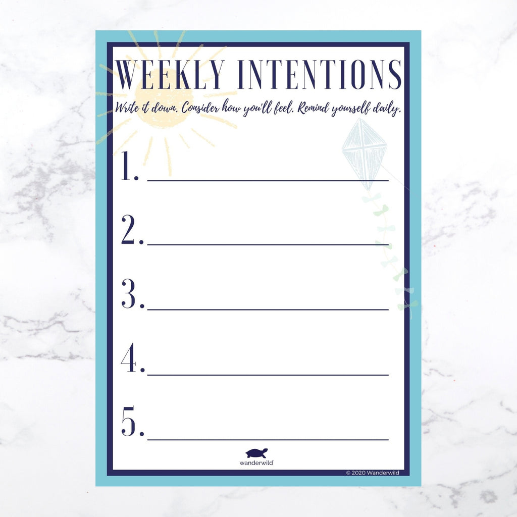 Printable: Weekly Intentions