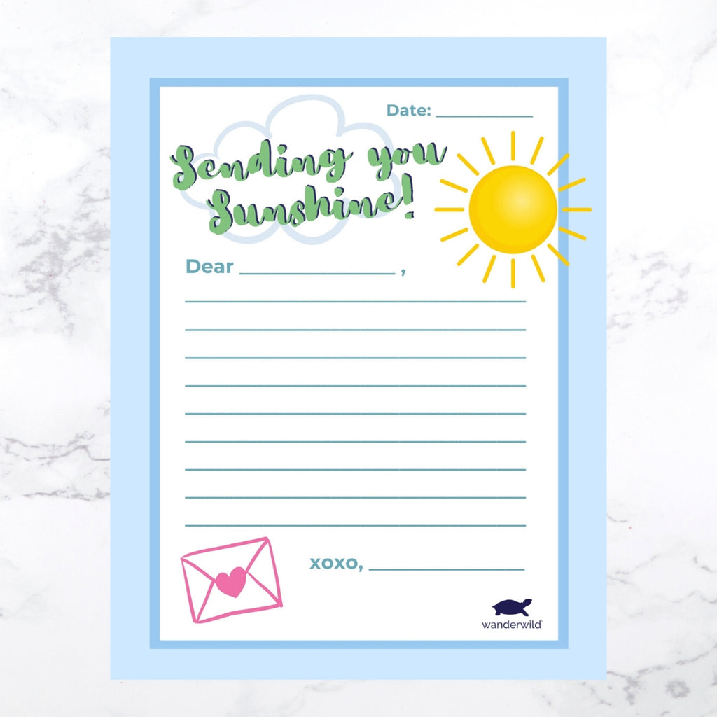 Printable: Sending You Sunshine Letter Template