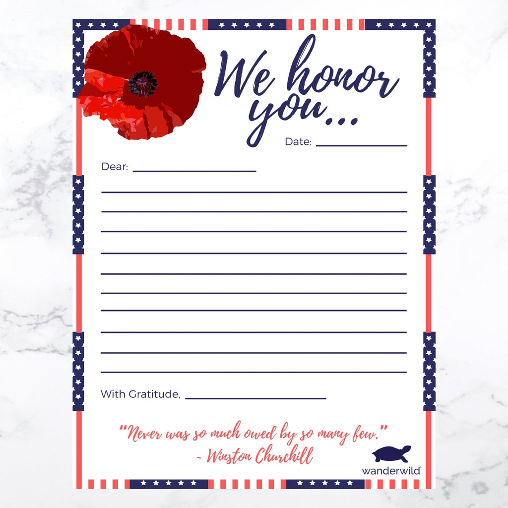 Printable: Honoring Memorial Day