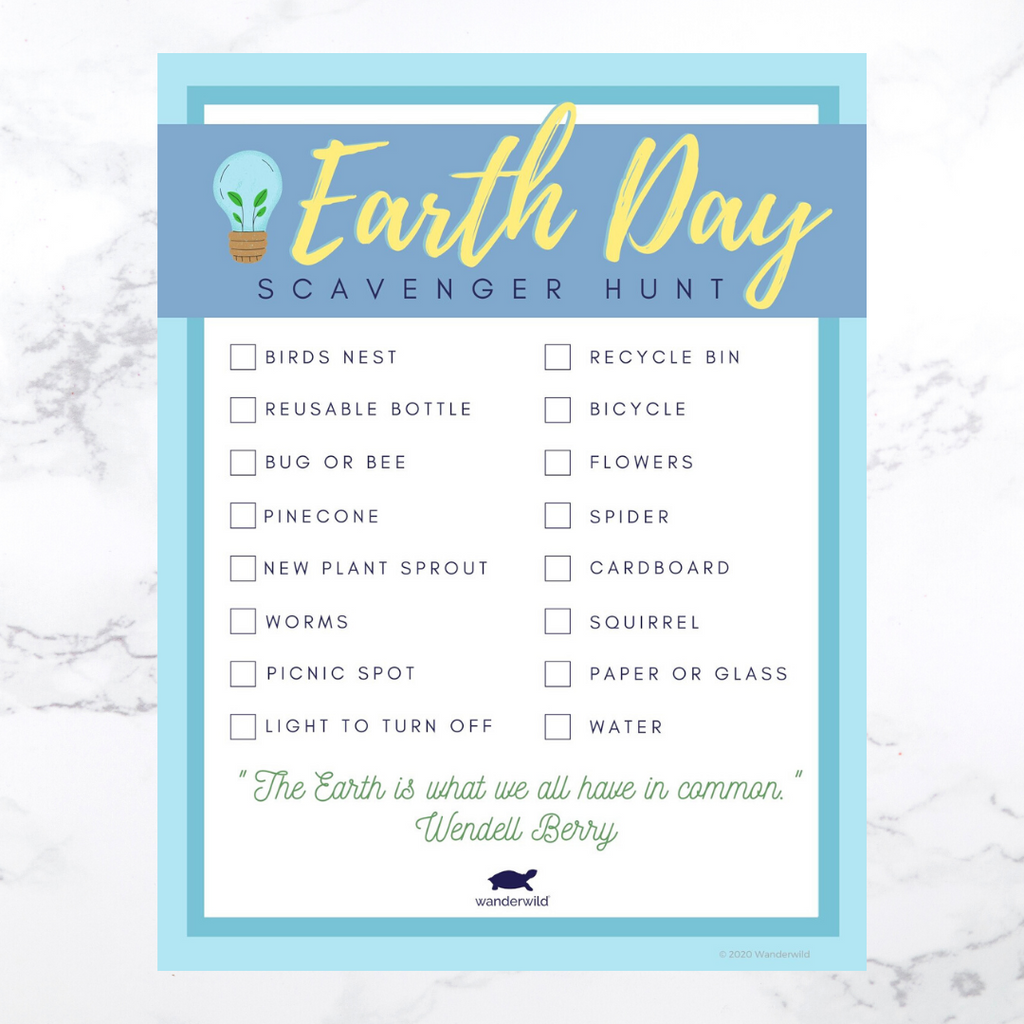 Printable: Earth Day Scavenger Hunt