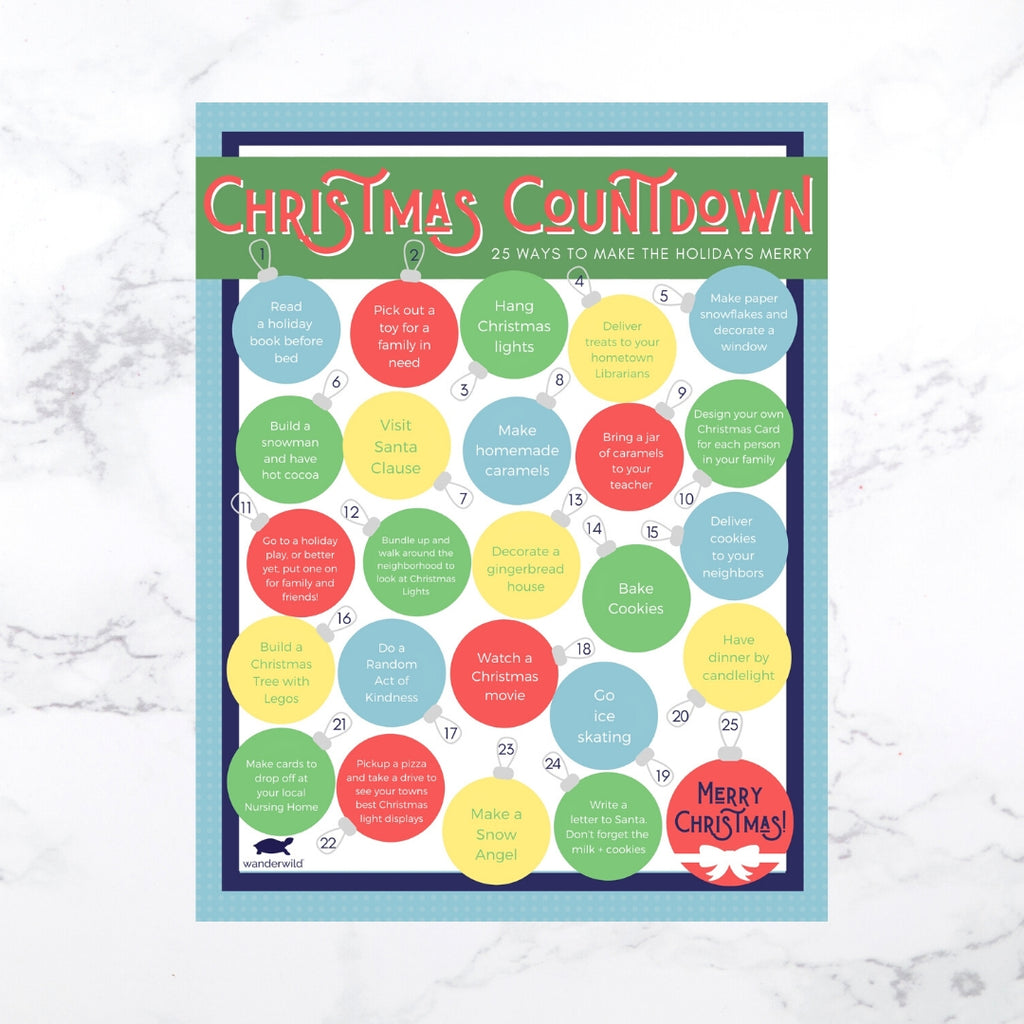Printable: Family Christmas Countdown