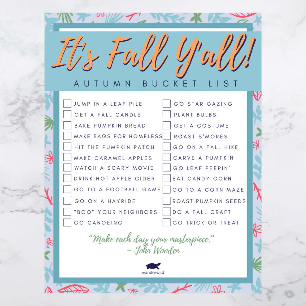 Printable: Fall Bucket List 2019
