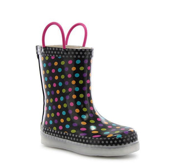 Diva Dot Multi Led Rain Boots