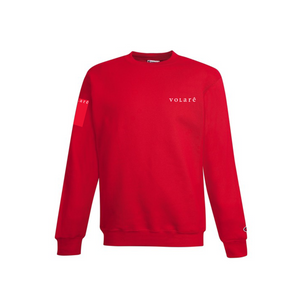 EMBROIDERED WORDMARK CREWNECK SWEATSHIRT / RED