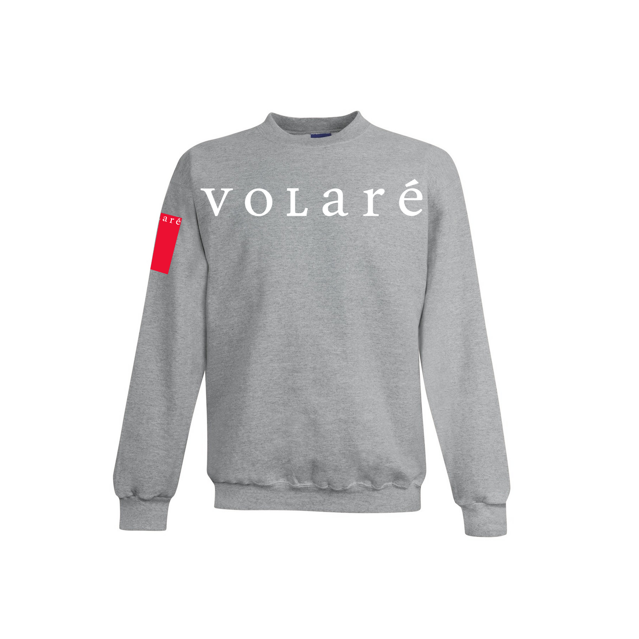 volare™ Wordmark Crewneck Sweater - Light Grey