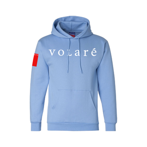 volaré BIG LOGO HOODIE - POWDER BLUE