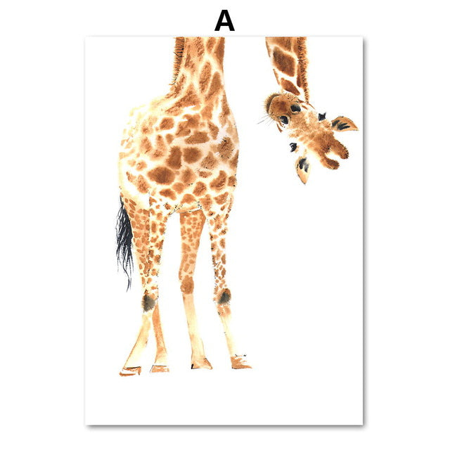 Giraffe Canvas Paintings Wall Art - 3 Pieces Set