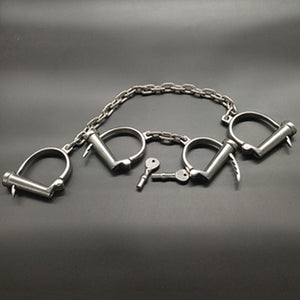 Stainless Chains Dungeon Torture Cuffs