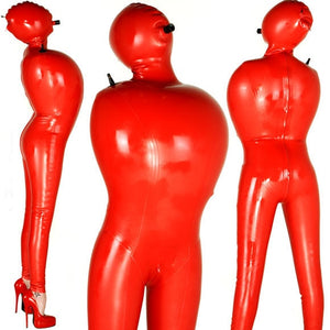 Red Hot Inflatable Latex Body Bag