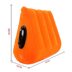 Orange Inflatable Sex Wedge