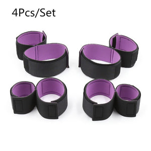 Chic Spandex Bondage Restraints 4pcs Set