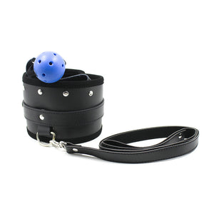 Slave Control Blue Ball Gag