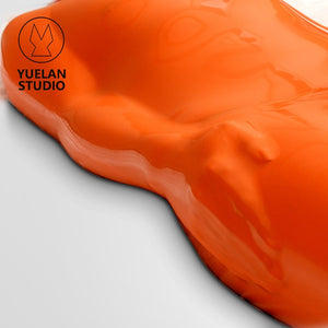 Fiery Orange Latex Vac Bag Bondage Suit