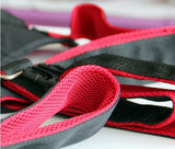 Black with Red Nylon and Cotton Body Harness Sex Sling
