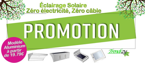 Promotion lampe solaire 2018