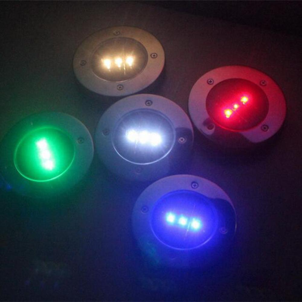 SPOT SOLAIRE LED ENCASTRABLE COULEUR RGB - LOT DE 4 - Trendszy.com