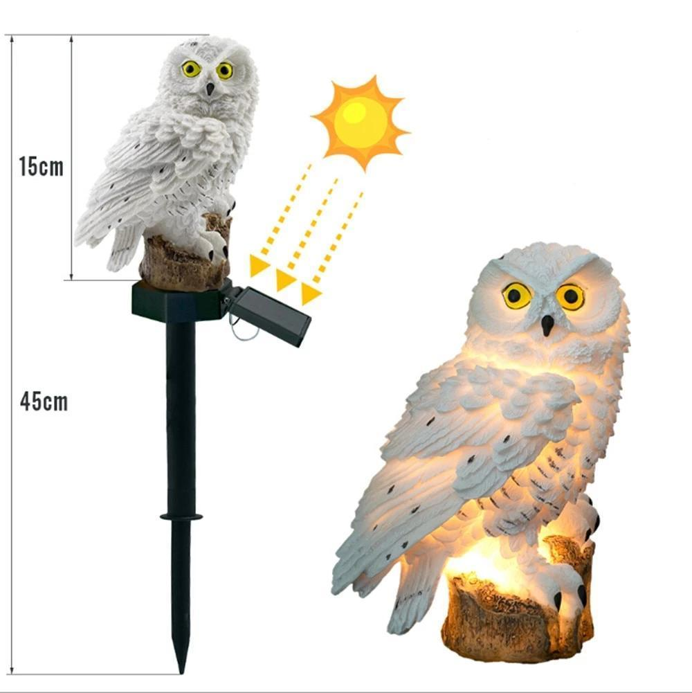 ANIMAL SOLAIRE CHOUETTE HIBOU
