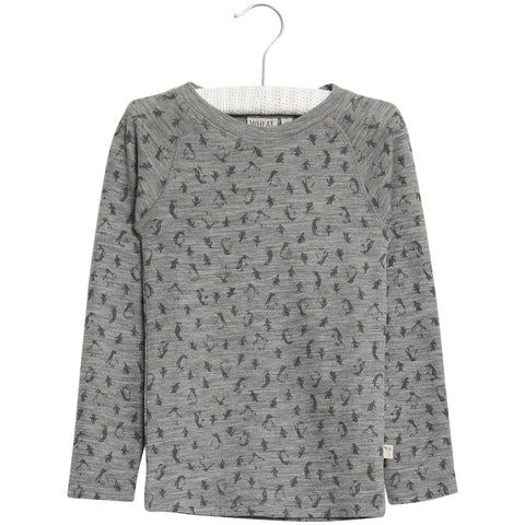 Wool T-Shirt Long Sleeve Dusty Dove