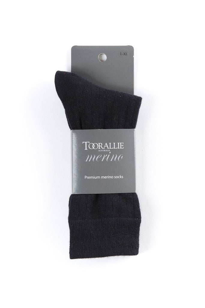 Fine Merino Socks - Black