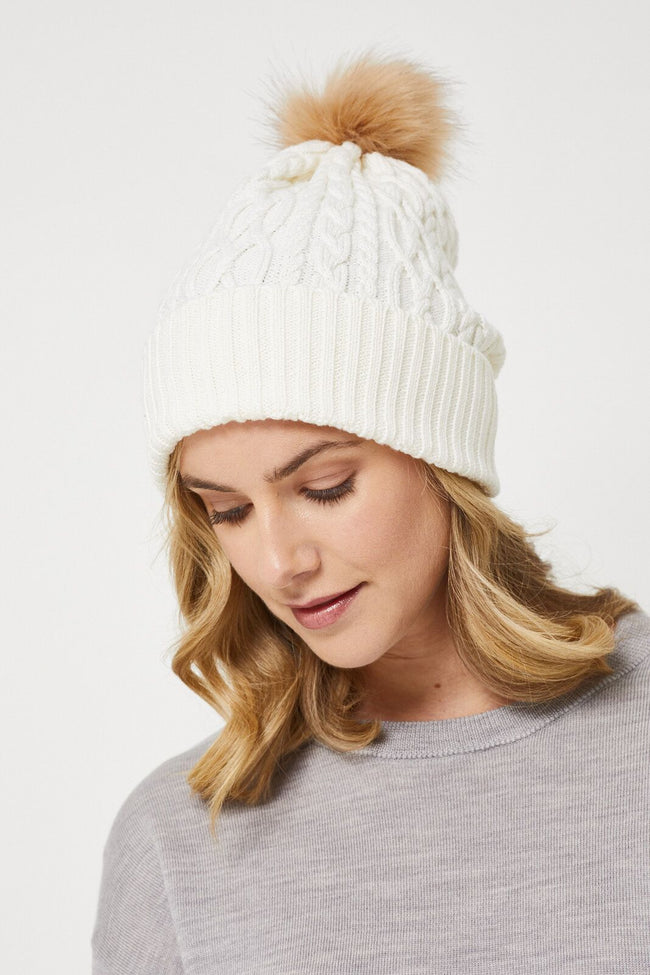 Cable Merino Beanie - Avalanche