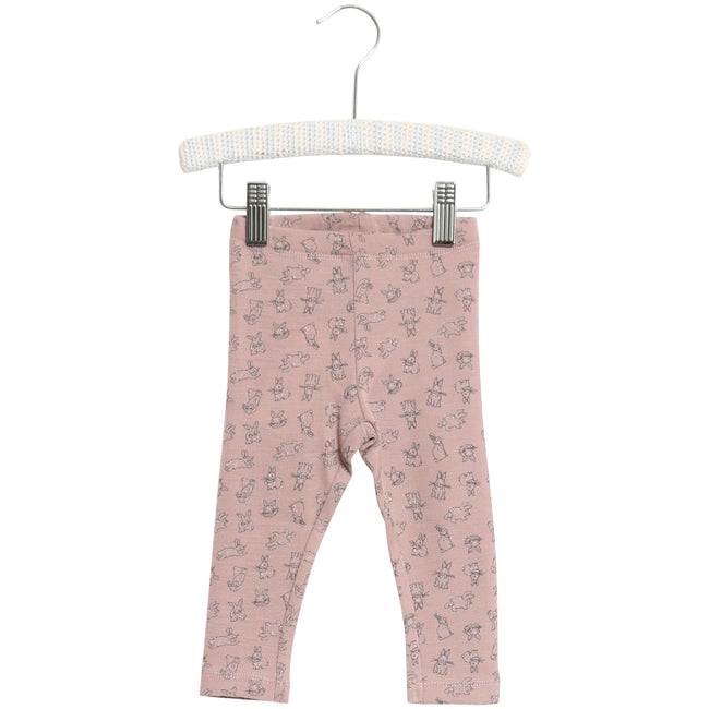 Baby Wool Leggings with Rabbit Print