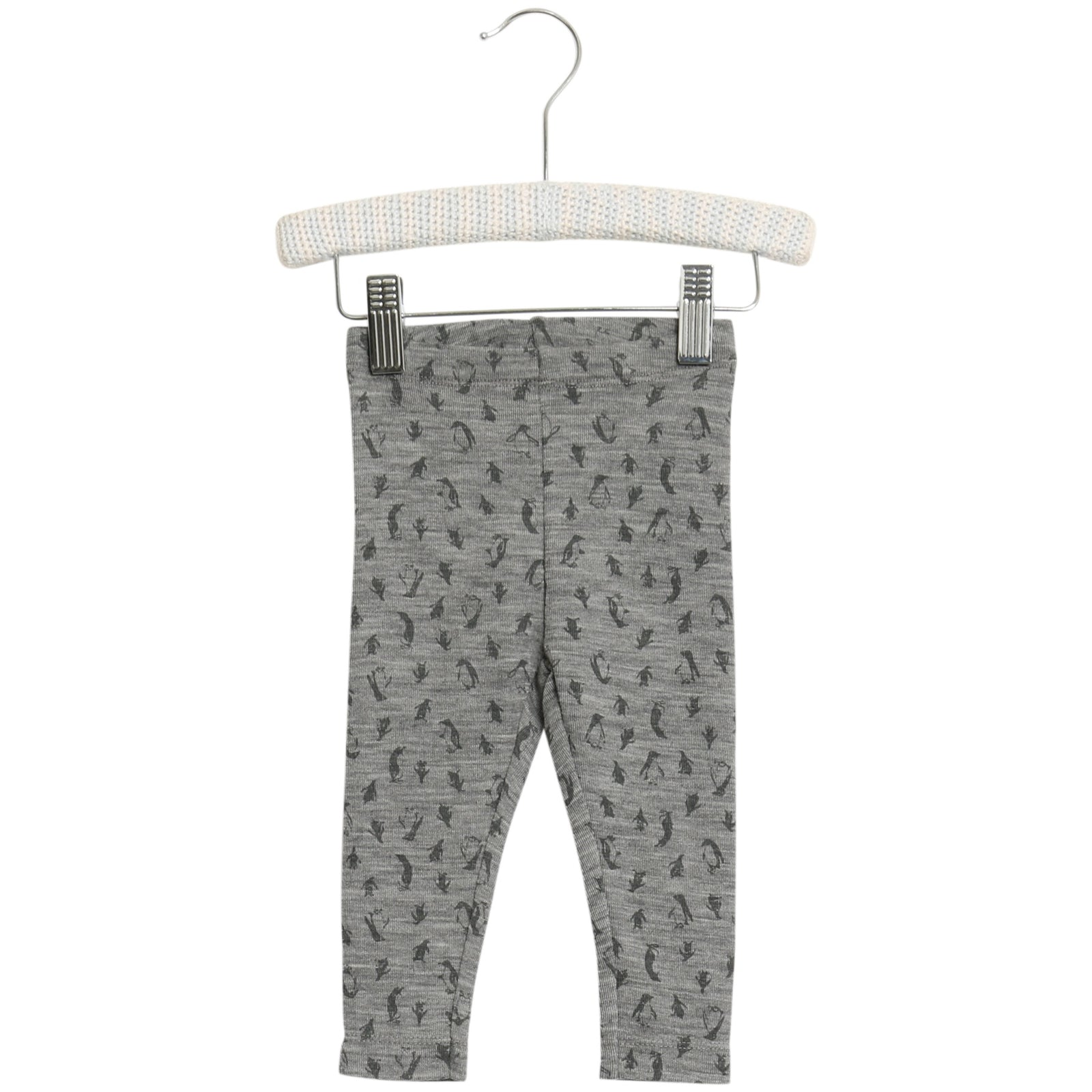 Baby Wool Leggings with Penguin Print