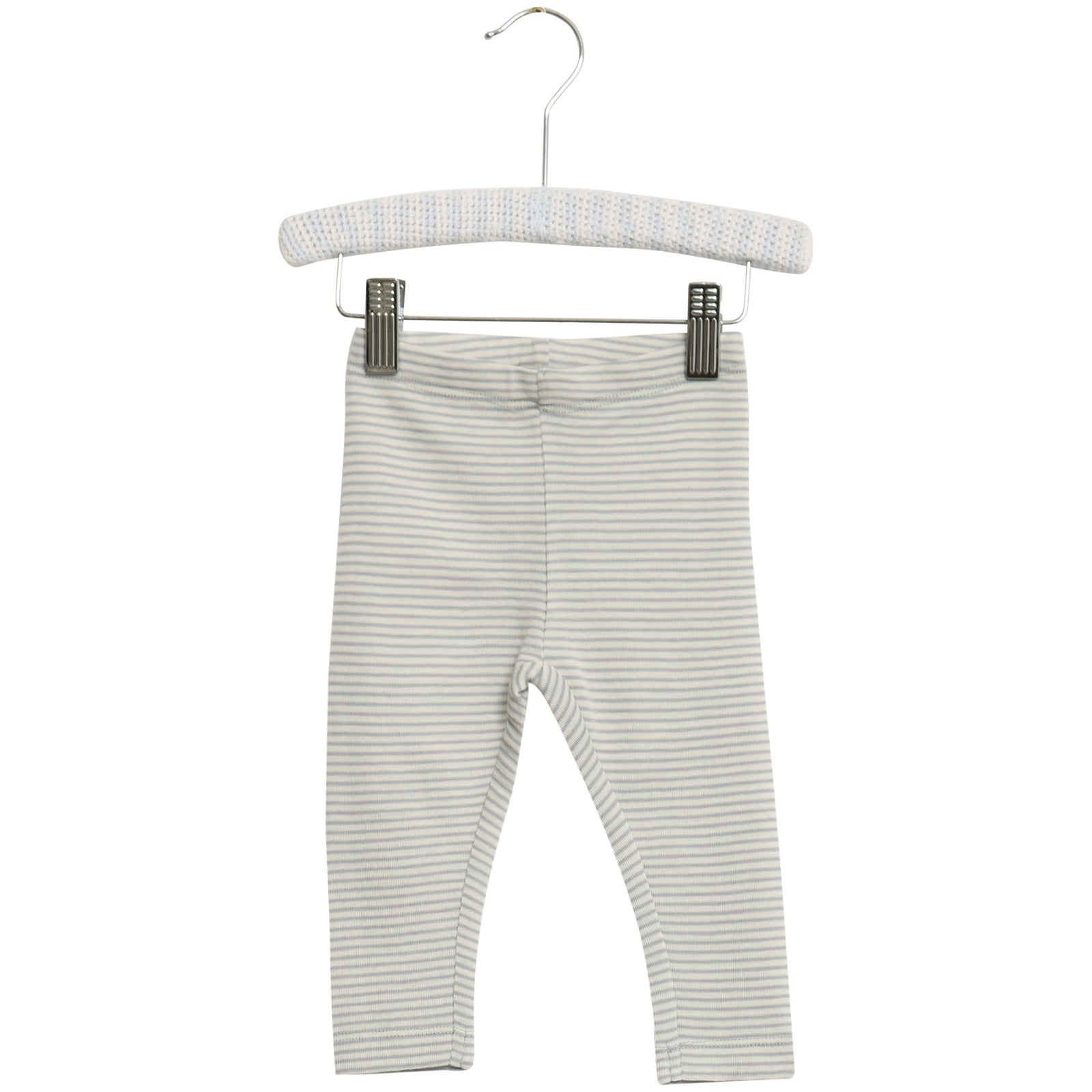Baby Wool Leggings Stripe Dusty Dove