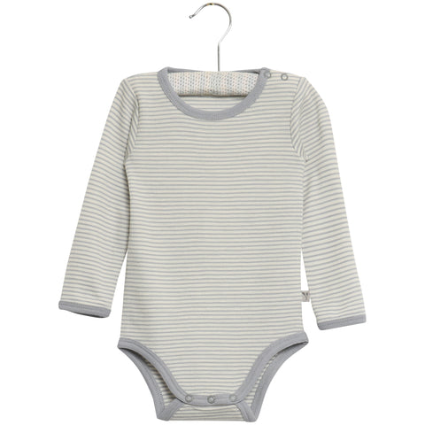 Bodysuit Long Sleeve Grey with Penguin Print