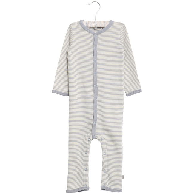 Jumpsuit Wool Dusty Dove Stripe