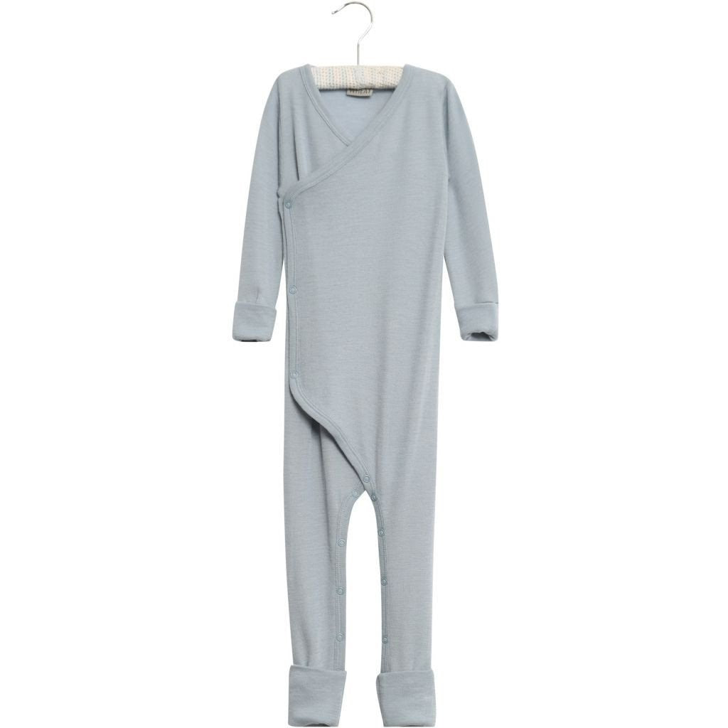 Wool Wraparound Jumpsuit Dusty Dove
