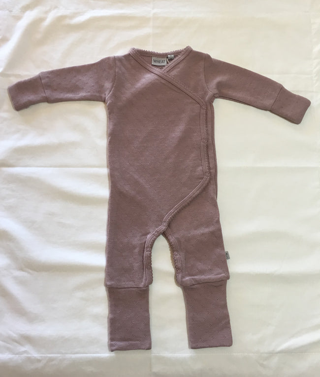 Wool Wraparound Jumpsuit Fawn
