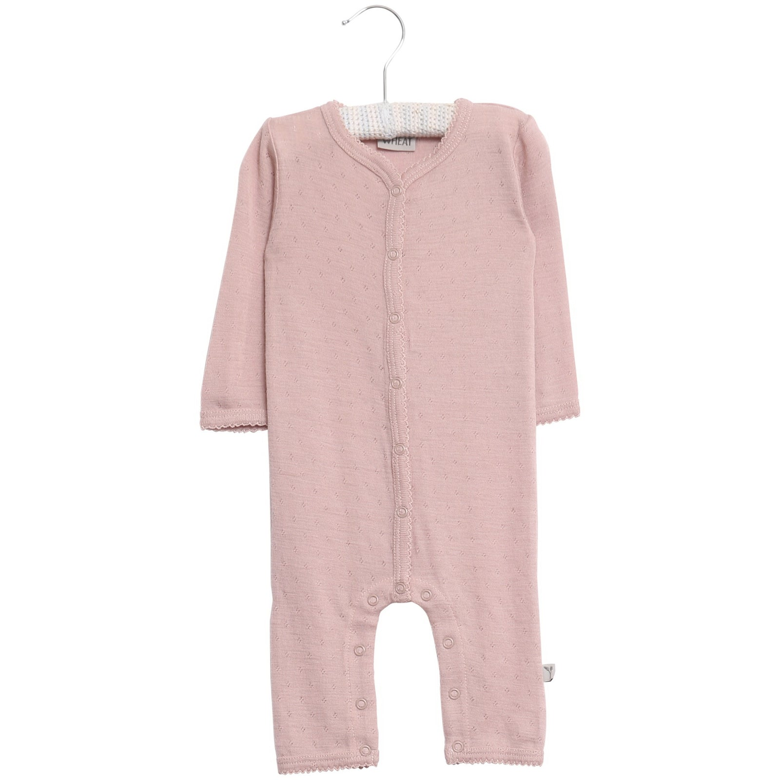 Plain Summer Wool Jumpsuit Shadow Rose Frill