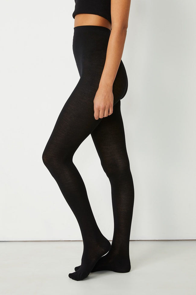 Fine Merino Tights - Black