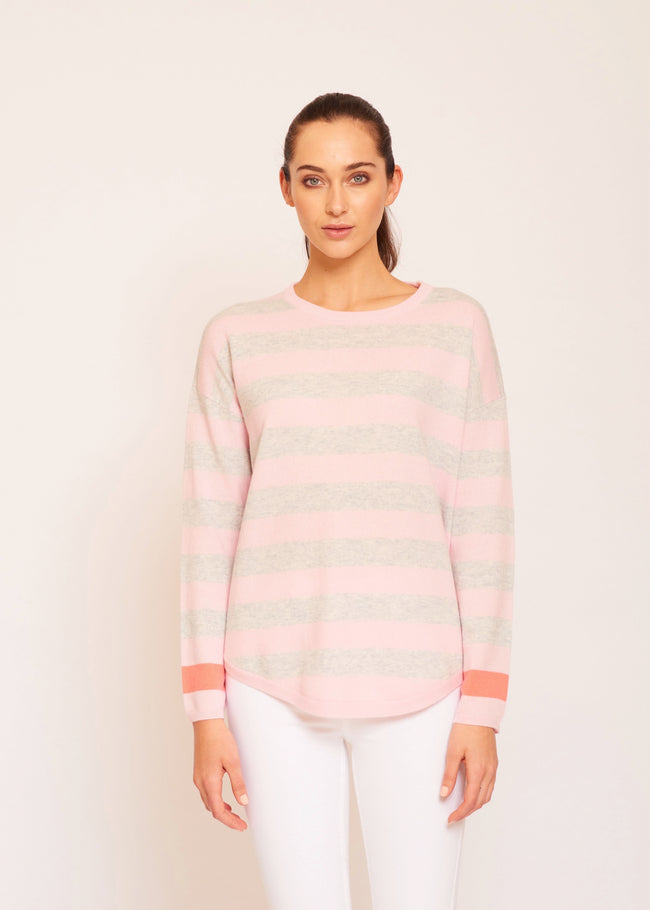 Womens Jack In The Box Jumper - Flamingo