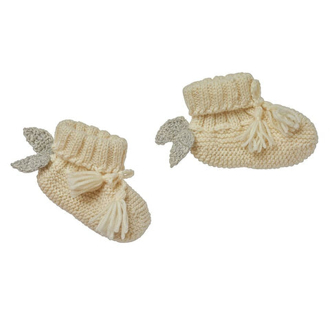 Heart Infant Mittens Cream