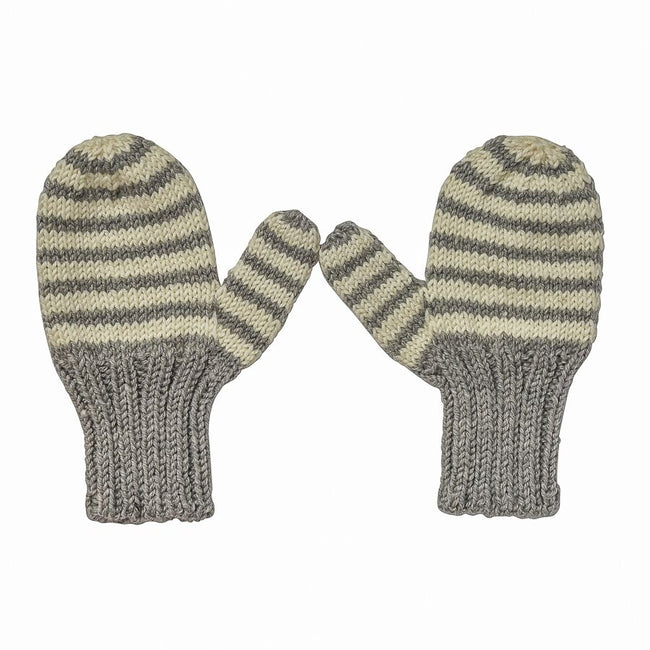 Adventure Mittens Grey Stripe
