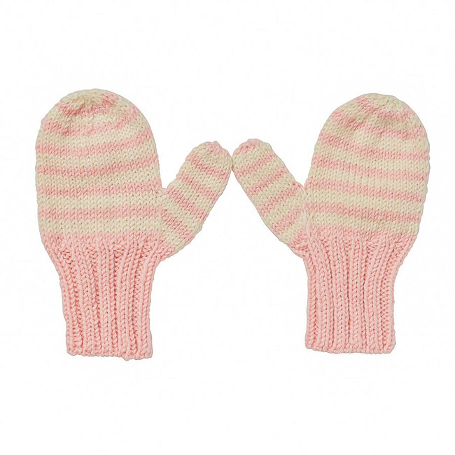 Adventure Mittens Pink Stripe