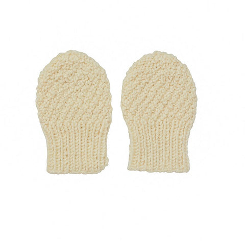 Heart Infant Mittens Grey