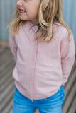 Childrens Pink Cardigan with Liberty Patches
