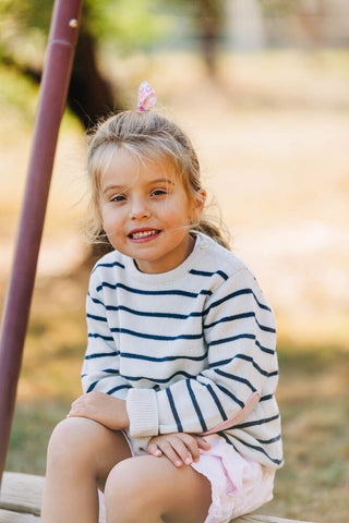 Childrens Forest Green Jumper with Gingham Patches