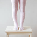 Merino Wool Tights - Cherry Blossom Cable