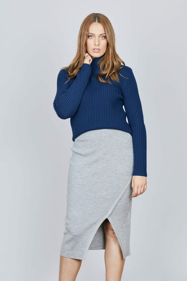 Robe Rib Knit Jumper - Navy