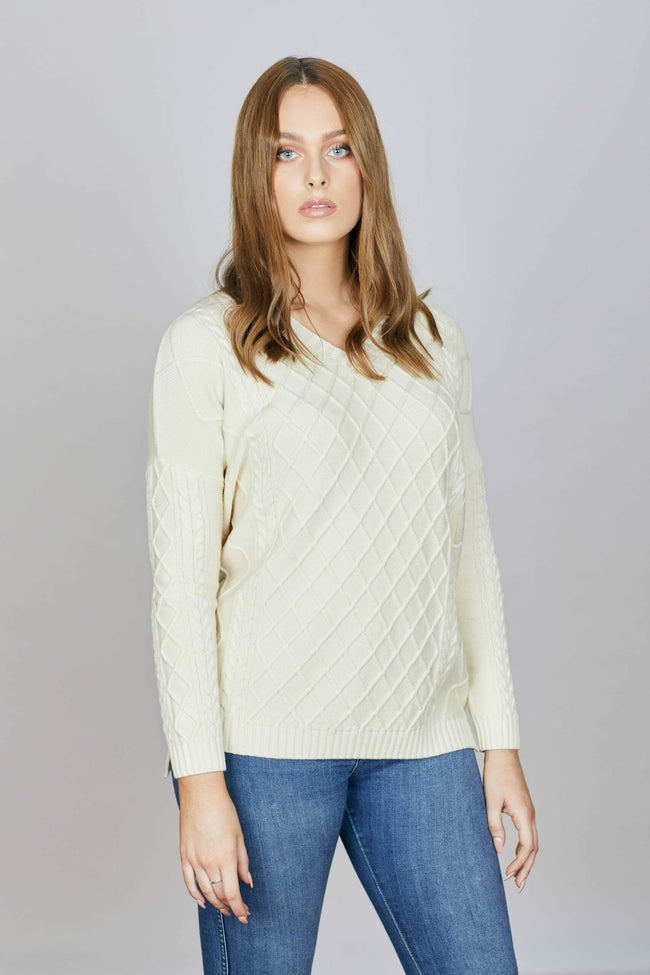 Tolderol Cable Knit - Cream