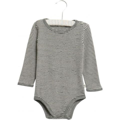 Bodysuit Wool Long Sleeve Soft Navy and Grey