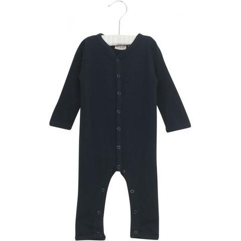Plain Wool Navy Jumpsuit