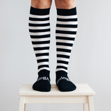 Women's Merino Wool Socks Knee High - Go Black