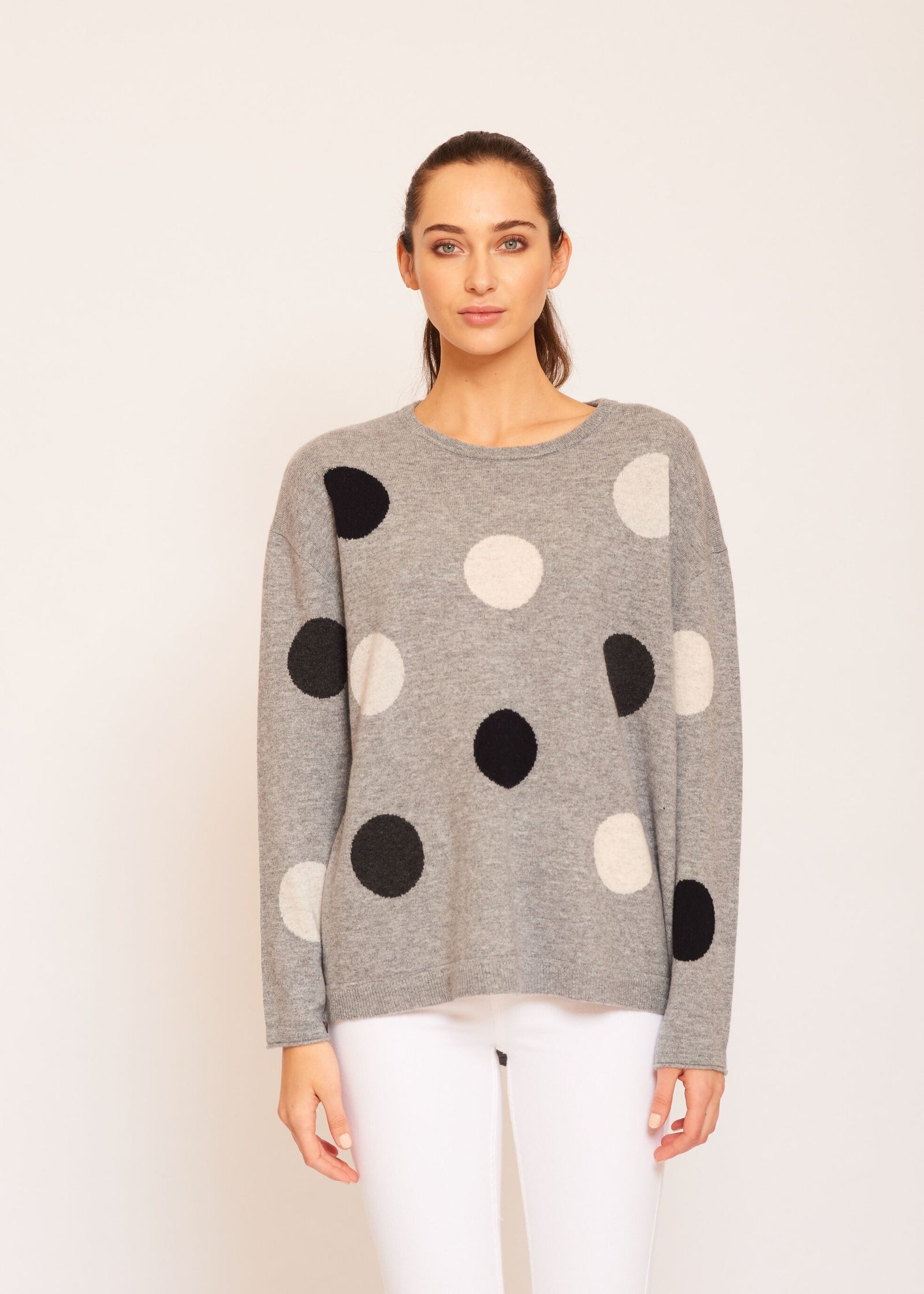 Womens Freckles Jumper - Gravel