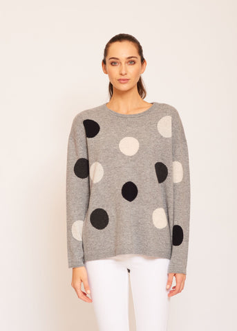 Womens Freckles Jumper - Snowstorm
