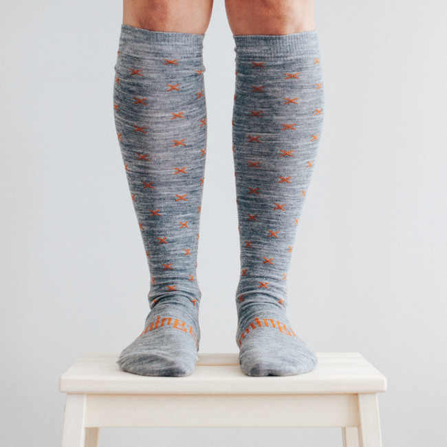 Women's Merino Wool Socks Knee High - Indiana