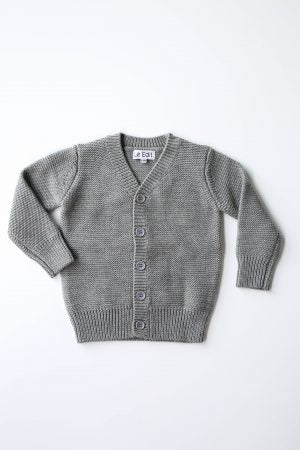 Merino Cardigan - Grey